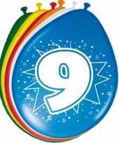 8 stuks ballonnen 9 jaar trend