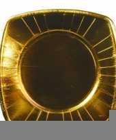 8 stuks gouden bordjes 26 cm trend