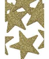 8 stuks gouden decoratie sterren 5 cm trend