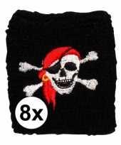 8 stuks piraten zweetbandje trend