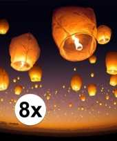 8 x witte wensballon 50 x 100 cm trend