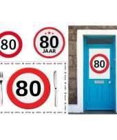 80 jaar stopbord versiering voordeel pakket trend