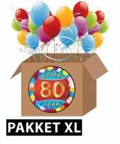 80 jarige feestversiering pakket xl trend