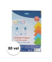 80 vellen gekleurd a4 papier 80 gram trend