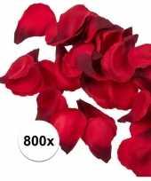 800x rode strooi rozenblaadjes 3 cm trend
