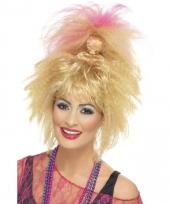 80s wafeltang pruik blond voor dames trend