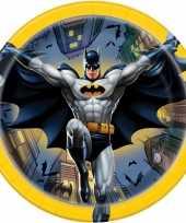 8x batman themafeest gebaksbordjes 17 cm trend