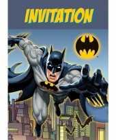 8x batman themafeest uitnodingen kaarten trend