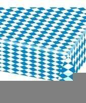 8x blauw met wit tafelkleden van 80x260 cm trend