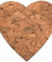8x decoratie harten van kurk 4 cm trend