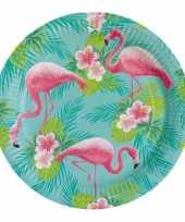 8x flamingo bordjes 23 cm trend