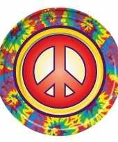 8x hippie themafeest borden 22 cm trend
