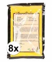 8x holi kleurpoeder geel trend