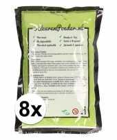 8x holi kleurpoeder groen trend