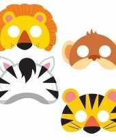 8x jungle themafeest maskers voor kinderen trend