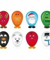 8x kerst ballonnen versieren 27 cm trend