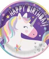 8x kinderfeest unicorn wegwerp bordjes trend 10131587