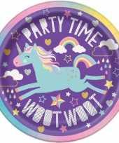 8x kinderfeest unicorn wegwerp bordjes trend