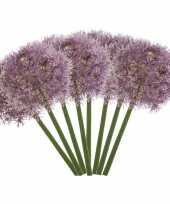 8x lila paarse allium sierui kunstbloemen 65 cm trend