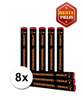 8x oranje fakkels bengaals vuur trend