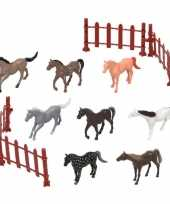 8x plastic paarden speelgoed figuren voor kinderen trend