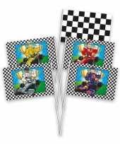 8x race formule 1 thema zwaaivlaggetjes trend