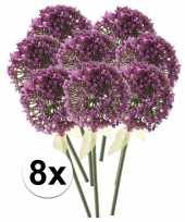 8x roze paarse sierui kunstbloemen 70 cm trend