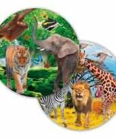 8x safari jungle themafeest bordjes 23 cm trend