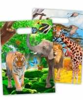 8x safari jungle themafeest feestzakjes 18 x 29 cm trend