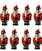 8x stuks kersthanger glazen soldaat 8 cm kerstboomversiering trend