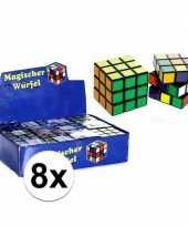 8x stuks voordelige kubus puzzels van 7 cm trend