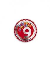 9 jaar helium ballon happy birthday trend