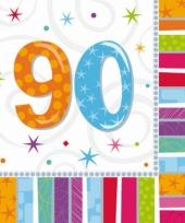 90 jaar feest artikelen servetten trend