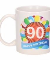 90e verjaardag cadeau beker mok 300 ml trend 10084031