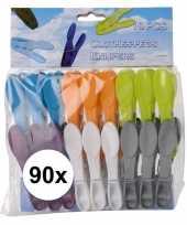 90x kunststof wasknijpers 8 cm trend