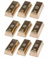 9x goudstaven magneet 6 cm trend