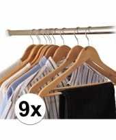9x houten kledinghangers trend
