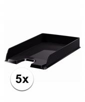 A4 brievenbakjes zwart 5x trend