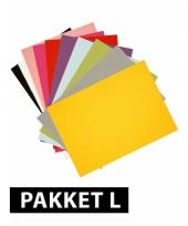 A4 formaat hobby karton 72 stuks trend