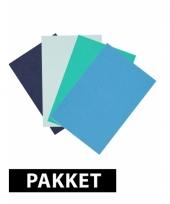 A4 formaat hobby karton blauw tint 4x trend