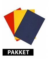 A4 formaat hobby karton rood geel blauw trend
