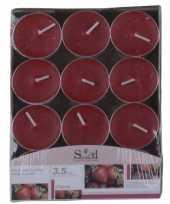 Aardbeien fruitgeur kaarsen 24 stuks trend