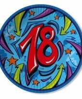 Achtien jaar borden 33 cm blauw trend