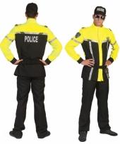 Agenten pak zwart met felgeel trend
