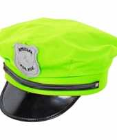 Agenten pet neon groen trend