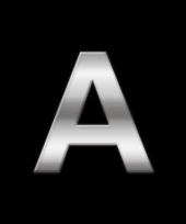 Alfabet stickers letter a trend
