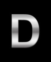 Alfabet stickers letter d trend