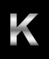 Alfabet stickers letter k trend