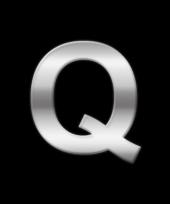Alfabet stickers letter q trend