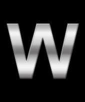 Alfabet stickers letter w trend
